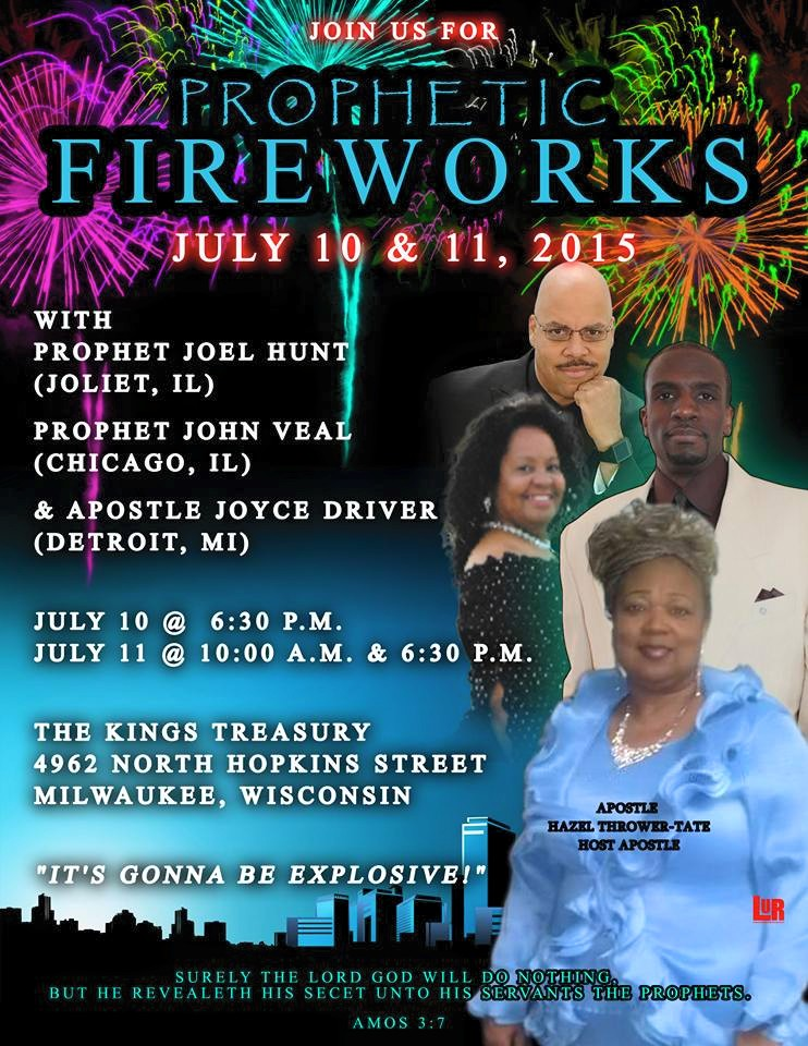 Prophetic Fireworks Conference 2015